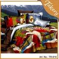 El último diseño 3dimpresión de conjuntos de ropa de cama/duvet cover/hoja de cama conjunto/línea de cama
