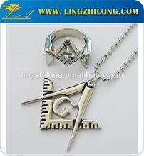 Metal Masonic Jewel, Masonic Jewel Silver Plated,Masonic Ring And Necklace