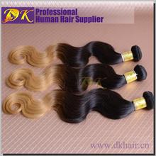Guangzhou DK China Wholesale ombre body wave virgin Chinese human hair