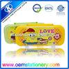 promptional three-layer pencil case wholesale cartoon pencil box