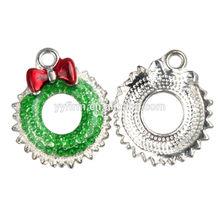 L0725034 big size 24*20mm oil drop metal alloy Christmas garland jewelry charm DIY bracelet/phone chain decoration charms