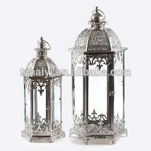 Colorful jewelry silver christmas lantern jewelry iron lantern moroccan lantern