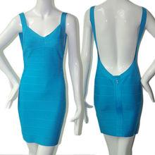Follow the fashion trend sky blue backless short elegant dresses muslim