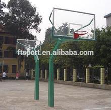 Outdoor Fixed Height Basketball hoop(glass backboard)