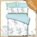 Impressão reactiva relaxy flor poli/algodão jogo do fundamento/linho/folha/travesseiro familay uso