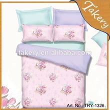 polyester 50/cotton 50 TC duvet cover set reactive print TC bedding set