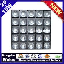 25*10W LED Matrix wall washer light,blind spot detection system