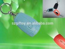 Cute solar power rechargeable keychain/led flashlight