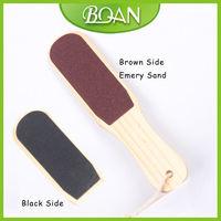 BQAN Wood Handle Double Side Callus Remover Pedicure Tool Pedicure Foot File