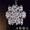 Top quality big crystal lighting chandelier stainless steel fixture