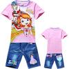 fashion 2014 children clothing sets plus size clothing 100% cotton sets