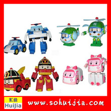 Korea Famous Robocar Poli Helly Amber Roy Transforming Robot Toy for amazon hot sale