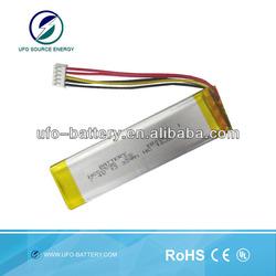 lipo Battery 3.7v 1800mAh Lithium polymer Battery , 3.7v 1800mAh li polymer battery