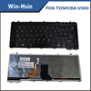 For toshiba laptop keyboard functions U500 keyboards with backlight