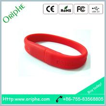 Plastic, fashion wrist band, custom printed LOGO,usb pen drive 512gb