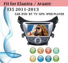 dvd car audio navigation system fit for Hyundai Elantra 2013 with radio bluetooth gps tv