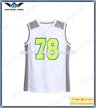 Latest dry fit child basketball jersey uniform design/basketball tops