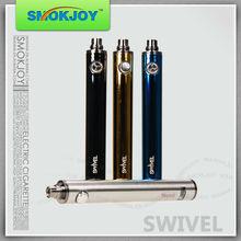 smokjoy 1300mah swivel twist vv battery lcd display 3.0v-5.0v,adjust voltage on the botton ego twist 1100