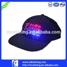 shenzhen swag flat bill led lighting napback cap