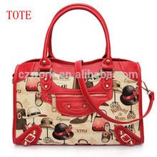 Decorated custom design tote bag, jacquard tapestry woven canvas bag, hobe