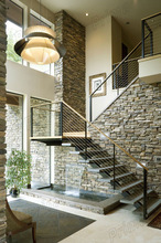 Modern steel-frame stairway plan staircase/beautiful stairways