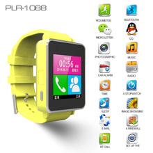 2014 New Design Model PLR-1088 Fashionable Muti-functional bluetooth watch mobile phone mq588l