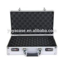 Locking Handgun Case Hard Aluminum Pistol Gun Storage Safe Carry Combination Box