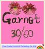 Compact design garnet sand
