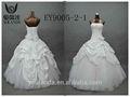 2015 amostras reais strapless bola vestido de rendas e babados tafetá vestido de noiva plus size