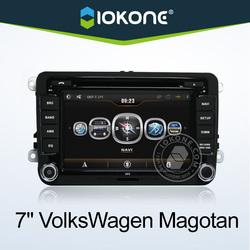 2 din 7 inch vw jetta car radio system with DVD, GPS, Radio, Bluetooth, Ipod, SD, USB, Steering wheel control