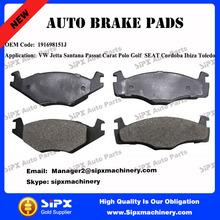 High quality 191698151J Car brake pads for VW Jetta Santana Passat Carat Polo Golf SEAT Cordoba Ibiza Toledo