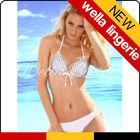 WELLA LINGEIE sexy bikin White plain bikini hot sexy lady bra and bikini