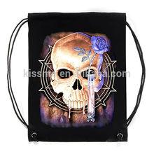 Customized popular design bob print cotton canvas duffel bag