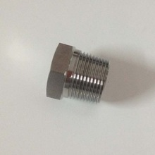 stainless steel thread cap, male threaded cap,pipe plug