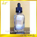 vidrio 30ml botella cuadrada con tapa a prueba de niños y gotero de vidrio desde el fabricante de shenzhen