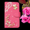 lichee pattern PU leather bling phone case for htc one 2 m8