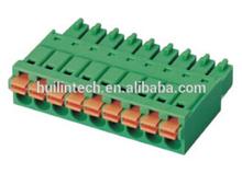 Screwless spring green 3.5mm dinkle 0221-20 terminal blocks