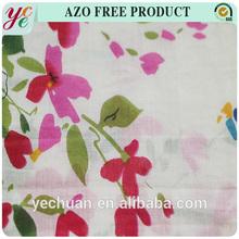 37gsm Light Flower Plain Printing Cotton Silk Fabric