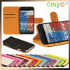 wallet leather case for motorola moto x with holder and stand