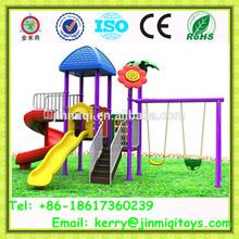 Colorful design children school slide, kids indoor outdoor playground, children's slides and swings JMQ-B009