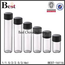 1/1.5/2/2.5/3/4ml glass bottle with screw neck , empty tube glass bottle, cosmetic bottle supplier