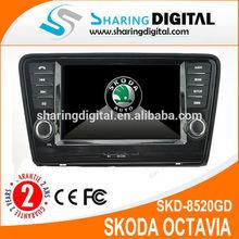 Car CD player support DVR MP3 MP4 for SKODA Octavia gps navigation system