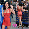 2014 latest design cheap celebrity sexy red v neck short Bandage evening Dresses XS S M L XL wholesale