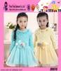 Fashion Hot Single Color Princess Dress Custom Lace Collar Sunshine Girl Casual Design Baby Dress