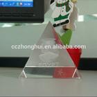 3D laser engraving crystal glass pyramid