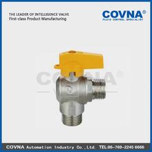 Aluminium handle male female ball valve Angled valve for gas