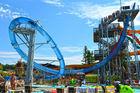 Magic loop translucence water slide for aquatic park, theme park, thrilling big event for aqua park
