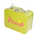 Personnalisé en métal rectangle boîte d'étain déjeuner avec poignée et la serrure portable