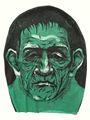 o rosto de fantasma de festa fantasia overhead horror máscara de halloween