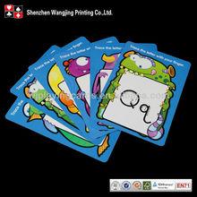 Stampati personalizzati carta da gioco, stampati personalizzati gioco di carte educativo per i bambini